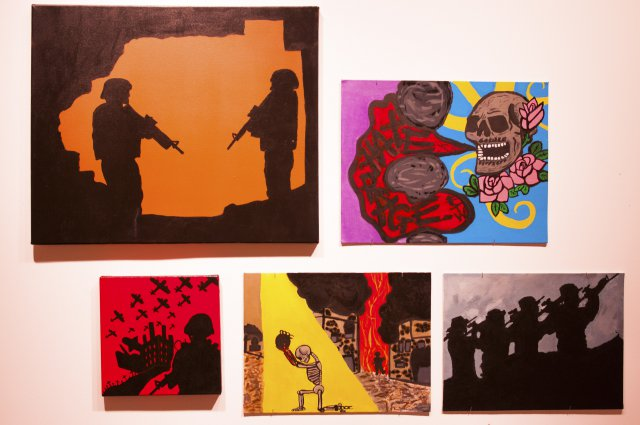 Paintings by military service members