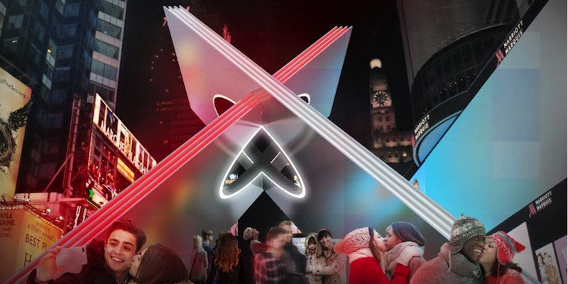 Times Square Valentine Heart X