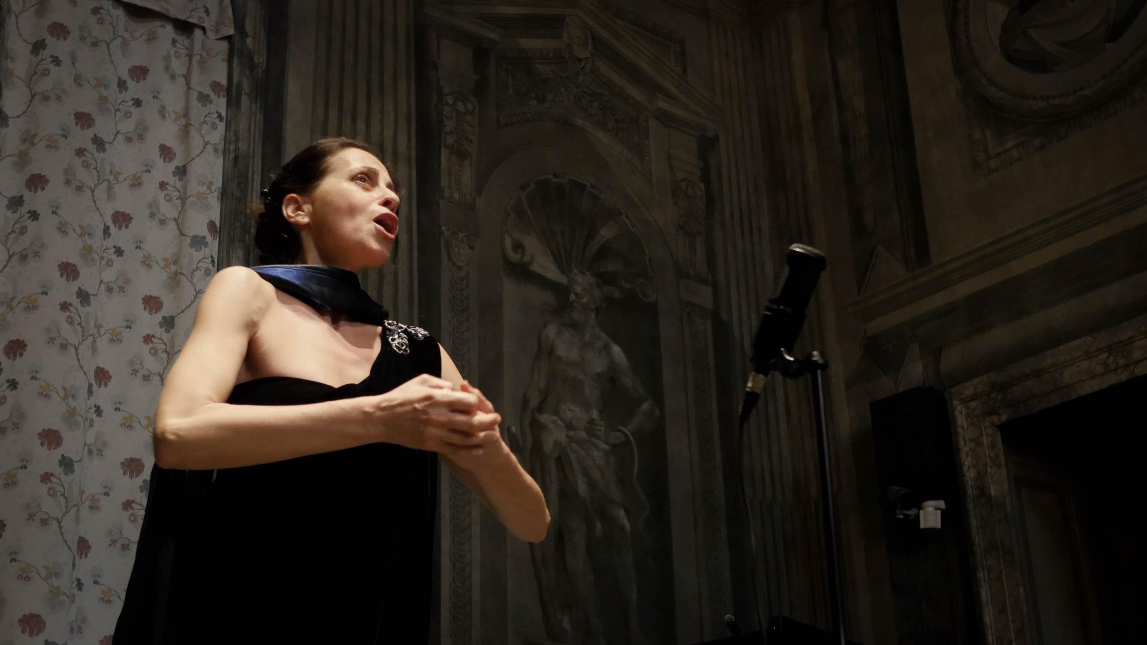 Woman singing opera