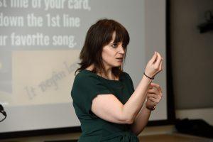 Tasha Golden presenting