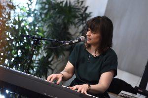 Tasha Golden playing piano