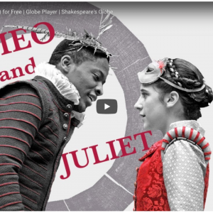 Streaming Shakespeare from the Globe Theatre
