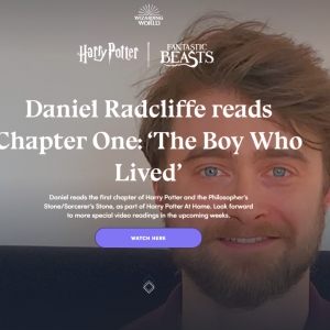 Catch a reading of Harry Potter by Daniel Radcliffe and other stars