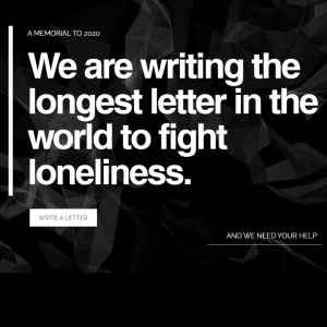 Help write the longest letter in the world to fight loneliness with Dear Loneliness