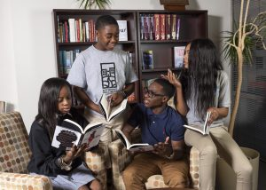 Teens discuss selected book for One Book Baltimore